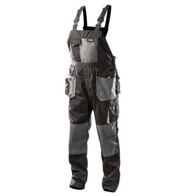 NEO Heavy Duty Work Cargo Bib and Brace Trousers Multi Pocket